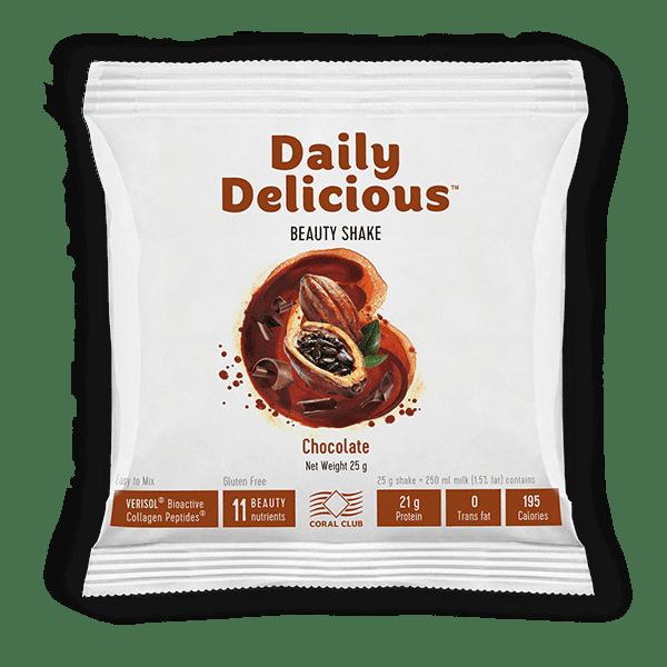 Daily Delicious Czekolada 25gr Daily Delicious koktajl czekoladowy z kolagenem 25gr c