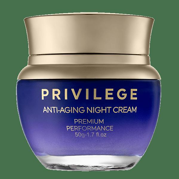 Privilege Przeciwstarzeniowy krem na noc do twarzy i szyi privilege odmładzający krem na noc