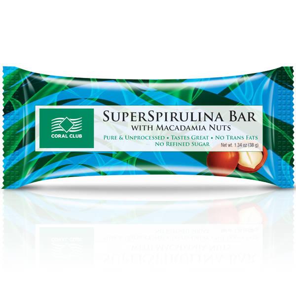 SuperSpirulina Bar with Macadamia Nuts 91681 SpirulinaBarwithMacadamia m 1 600x600